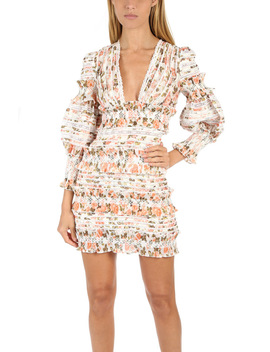 Zimmermann Radiate Smocked Mini Dress by Zimmermann