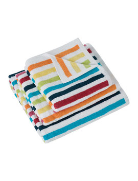 Rainbow Stripe Towel   Bath Sheet by A By Amara