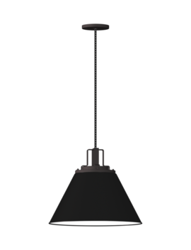 "Butte 18"" Cone Oil Rubbed Bronze Pendant by Rejuvenation"