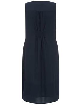 Navy Lace Up Cocoon Dress by Mint Velvet