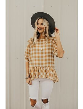 Sue Ellen Plaid Peplum by Roolee