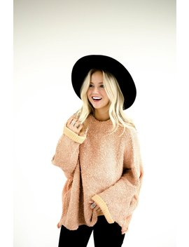 Free People Cuddle Up Pullover In Rose by Roolee
