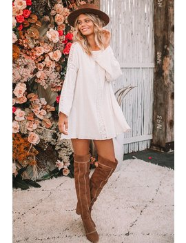 Doe Eyed Mini Dress Doe Eyed Mini Dress Zephyr Patchwork Over The Knee Boots by Spell & The Gypsy