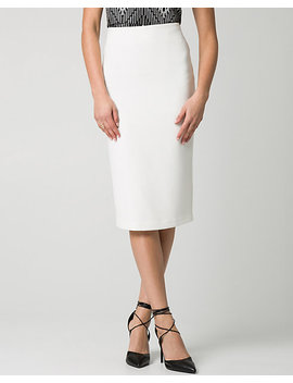 Stretch Piqué Midi Skirt by Le Chateau