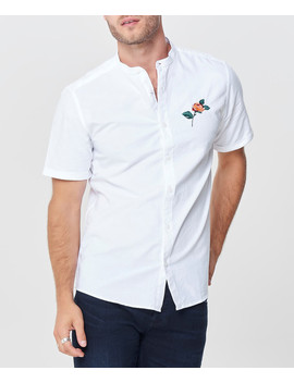 White Cotton Short Sleeve Shirt by Only & Sons                              Sold Out
