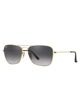 Caravan Gold Tone Frame Sunglasses by Rayban