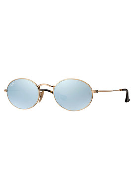 Oval Flat Gold Tone & Mirror Sunglasses by Rayban                              Sold Out