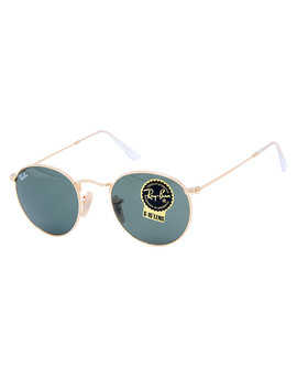 Round Metal Grey & Gold Tone Sunglasses by Rayban                              Sold Out