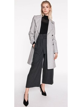 Grey Felt Double Breasted Coat by Cue