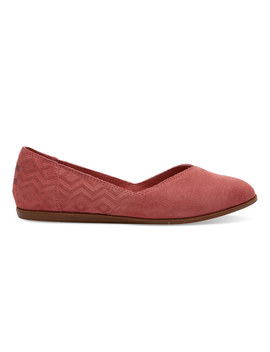 Faded Rose Suede Diamond Embossed Women's Jutti Flats by Toms