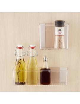 Inter Design Affixx Adhesive Organizer Bins by Container Store