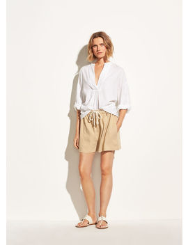 Rope Tie Linen Short by Vince