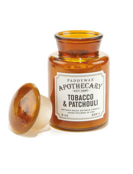 Paddywax Apothecary 8oz   Tobacco & Patchouli by The Hut