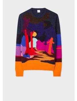 Men's Wool Blend 'dreamer' Crew Neck Sweater by Paul Smith