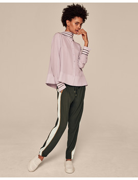Luxe Satin Side Stripe Jogger                                                                                   Luxe Satin Side Stripe Jogger by Me+Em