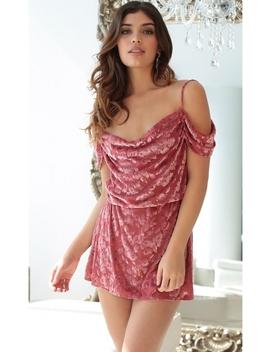 La Bella Dress In Velvet Rose by Lucy In The Sky