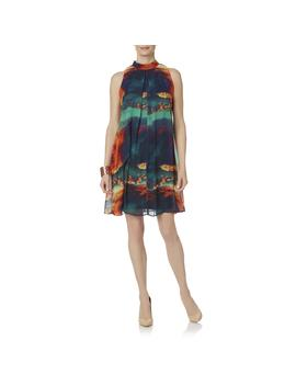 Robbie Bee Women's Pleated Occasion Dress   Abstract by Kmart