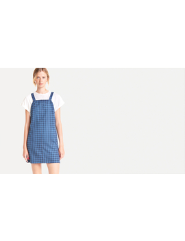 Blue Frankie Check Pinny Mini Dress by Nobody's Child