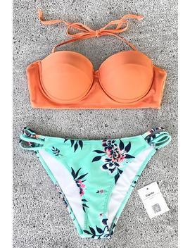 Shining Gloriously Print Bikini Set by Cupshe