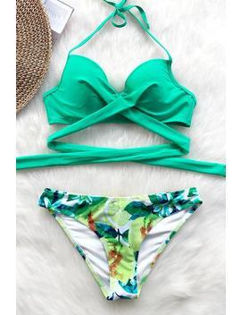 At The Seashore Cross Bikini Set by Cupshe