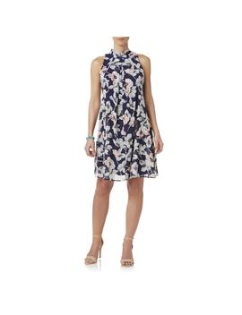 Robbie Bee Women's Mock Neck Shift Dress   Floral by Kmart
