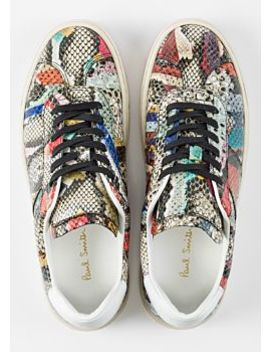 Women's 'snake Swirl' Leather 'levon' Trainers by Paul Smith