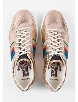 Women's Metallic Gold Leather 'lapin' Trainers by Paul Smith