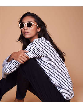 Lou &Amp; Grey Striped Long Tee by Lou & Grey