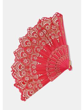Solid Color Glitter Fan by Miss A