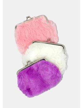 Furry Kiss Lock Coin Purse by Miss A