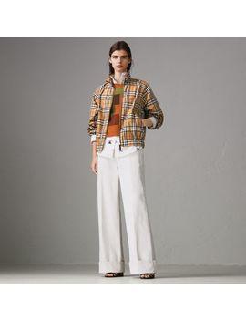Topstitch Detail Vintage Check Harrington Jacket by Burberry