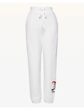 Rainbow Crystal Jc Velour Slim Pant by Juicy Couture