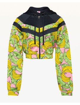 Jxjc Banana Print Colorblock Tricot Jacket by Juicy Couture
