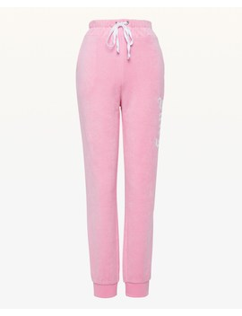 Embroidered Juicy Microterry Slim Pant by Juicy Couture
