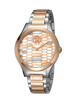 Rose Gold Tone Steel Mosaic Watch by Roberto Cavalli By Franck Muller                              Sold Out
