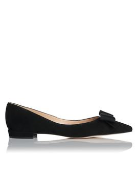 Sammy Black Suede Flat by L.K.Bennett
