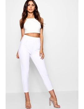 Petite Pleat Front Trouser by Boohoo