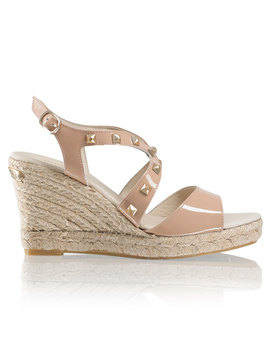 Stud Crossover Espadrille by Headcandy