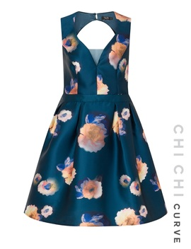 Chi Chi Curve Auberney Dress by Chi Chi London
