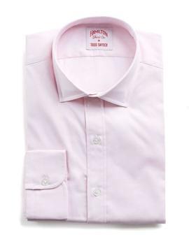 Hamilton Pink Solid Pinpoint Shirt by Hamilton