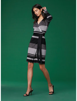 long-sleeve-metallic-wrap-dress by dvf