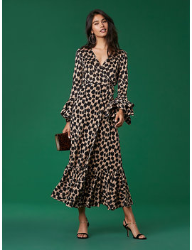 Ruffle Sleeve Wrap Dress by Dvf
