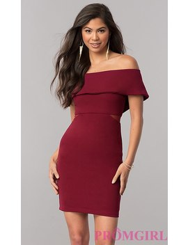 Short Off The Shoulder Homecoming Party Dress by Promgirl