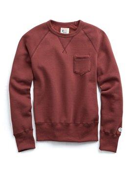 Classic Pocket Sweatshirt In Crimson by Todd Snyder + Champion