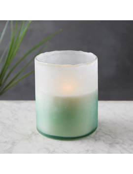 Linnea's Lights Hurricane Candle, Cut Grass by Terrain