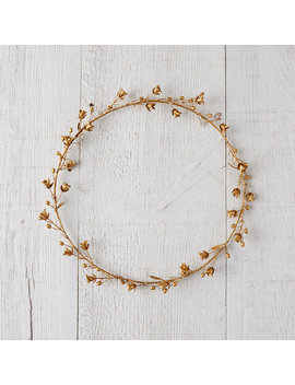Golden Campanula Wreath by Terrain