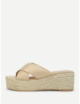 Espadrilles Wedges Mit Kreuzgurte by Sheinside