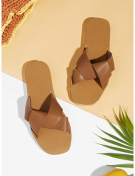 Flache Sliders Mit Riemen by Sheinside