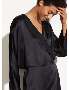 Drape Panel Silk Dress by Vince