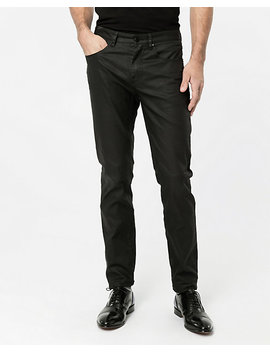 Coated Stretch Denim Slim Leg Pant by Le Chateau